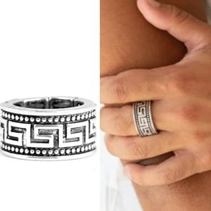 Mens silver tribal ring